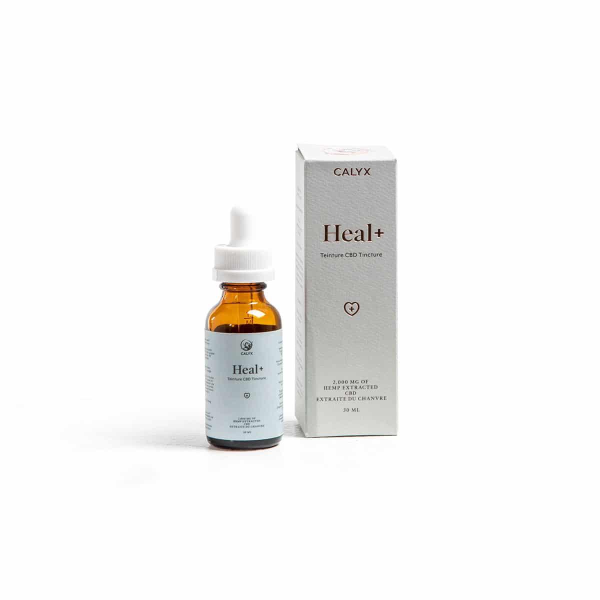 CALYX HEAL+ 2000 mg hemp CBD 30 ml size