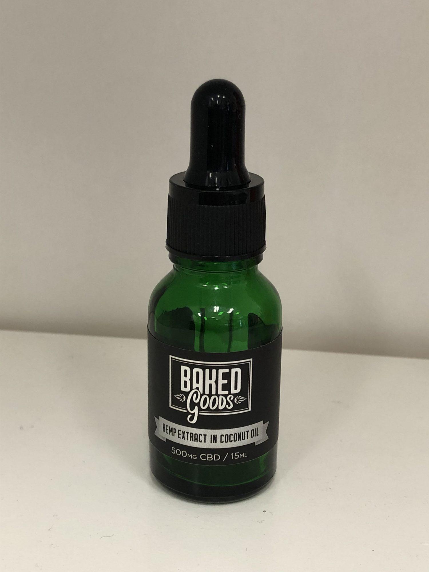 BAKED GOODS 500 mg hemp CBD 15 ml TRIAL SIZE